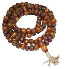 Tibetan Prayer beads Gypsy Necklace Yoga Necklace Mala Necklace Amber Necklace