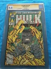 Incredible Hulk #343 - Marvel - CGC SS 9.4 NM - Signed by Peter David