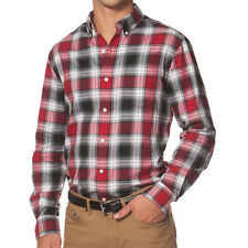 New Men's Chaps By Ralph Lauren Herringbone Red Plaid Button-Down Shirt XXL $60