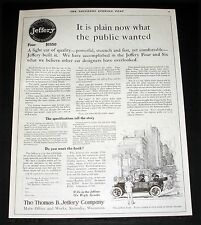 1913 OLD MAGAZINE PRINT AD, THOMAS JEFFERY TOURING CAR, A LIGHT CAR OF QUALITY!