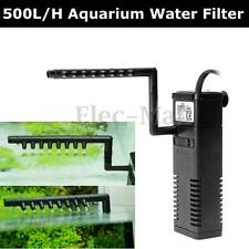 500L/H Aquarium Fish Tank Filtration Internal Filter Submersible Water Pump