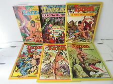 TARZAN serie completa 1/6 GRAPHIC NOVEL - russ manning - ed.cenisio - 1974-sc16-