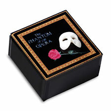 Phantom of The Opera Mask and Rose GLASS MUSIC BOX San Francisco Music Box