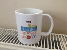 Thank You For Helping Me Grow  Gift Mug Personalised Childcare Nursery Etc