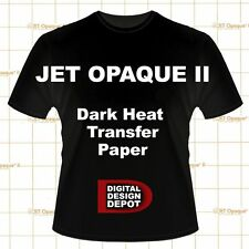 NEENAH TRANSFER PAPER JET OPAQUE II 50 SHEETS FOR DARK FABRICS :)