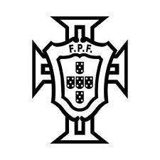 Autocollant Portugal FPF logo foot adhésif stickers couleur au choix rouge 15 cm