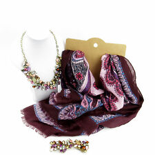 Jewellery Bundle Moroccan Style Border Scarf And Necklace Set For Women