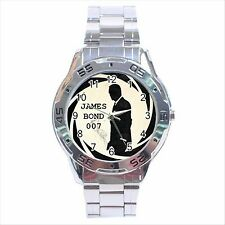 NEW* HOT JAMES BOND 007 Stainless Steel Analogue Wrist Watch Gift D05