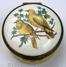 Bilston & Battersea Halcyon Days Enamels Yellow Birds Enamel Box