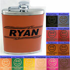 Personalized Leather Flasks For Groomsmen Bridesmaids Wedding Party Gifts 7oz