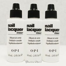 LOT 3 OPI Nail Polish Lacquer Thinner 60 mL - 2 fl oz NTT01    SHIP 24H
