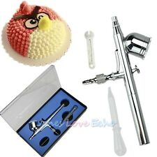 Dual Action Gravity Feed Airbrush Gun 0.3mm Spray Art Paint Kit Tattoo Nail Tool