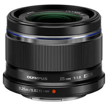 Olympus M ZUIKO DIGITAL 25mm F1.8 Lens  (Black)