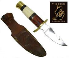 """9"""" BONE COLLECTOR FIXED BLADE GUT HOOK SKINNING KNIFE Hunting Bowie Fish Skinner"""