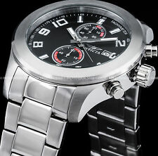 Invicta Men's Specialty Chronograph Black Dial Silver SS Bracelet Tachy Watch