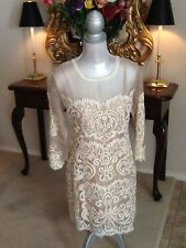 NEW Anthropologie Yoana Baraschi Paisley embroidered Sheer Silk Dress 8