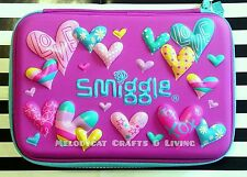 "LATEST! SMIGGLE SCENTED Hardtop Pencil Case for Girls - ""Kooky"" Series, Hearts"