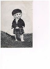 DOLL'S CLOTHES KNITTING PATTERN, SCOTTISH OUTFIT.16 INCH DOLL.