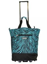 "Green 20"" Wheeled Rolling Shopping Tote Bag with Retractable Handle"