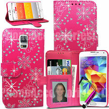 Bling Diamond Wallet Case Flip Cover For Samsung Galaxy Phones Various Models