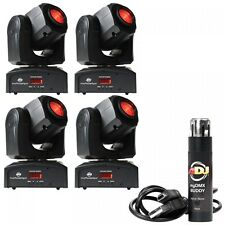 4 x ADJ Inno Pocket Spot Black Package inc DMX software Disco LED Moving Head