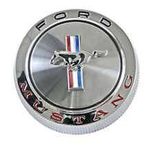 NEW! 1966 Ford Mustang Gas Cap Chrome Twist on with cable made by Scott Drake
