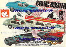 Corgi Juniors Crimebusters conjunto Batman Bond Husky tío CARTEL ANUNCIO FOLLETO