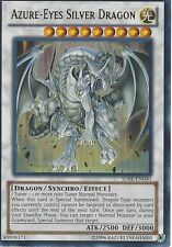 YU-GI-OH CARD: AZURE-EYES SILVER DRAGON - ULTRA RARE - SDBE-EN040