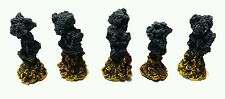 Wargames 5 x PAINTED  RESIN Explosion Markers. Flames of War, Tanks, Team Yankee