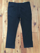 ZARA MAN 'SPORT MODA' MENS BLACK DENIM TROUSERS W38 L27