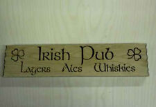 Solid Oak Handcrafted Wooden Irish Pub Sign