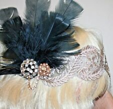 Feather Vintage Headpiece,1920s Great Gatsby Headband, Festival, Party Accessory