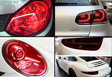 "NEW 12"" x 48"" Pure Red Smoke Headlight Taillight Fog Light Tint Film Vinyl Wrap"