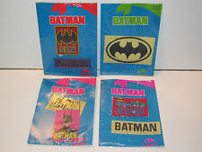 BATMAN 1989 DRESSED BY COLLECTION LOT OF CLOTHES TAGS PATCHES SEALED PACKAGING