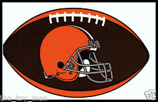 CLEVELAND BROWNS OVAL FOOTBALL NFL LICENSED TEAM LOGO INDOOR DECAL STICKER
