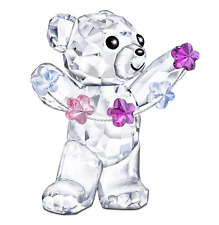 NIB $110 Swarovski Crystal Figurine Kris Bear-Flowers For You  # 5076626