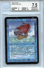 MTG Alpha Pirate Ship BGS 7.5  NM+ Card Magic the Gathering WOTC 7534