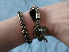 H&M Ladies Gold Chain Wrap Around Bracelet With Charms BNWOT