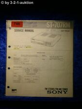 Sony Service Manual ST 707RM Tuner  (#0746)