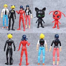 Miraculous Ladybug 6Pcs PVC Figures Toys Marinette Adrien Cat Noir with Light