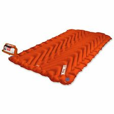 KLYMIT Static INSULATED DOUBLE V Sleeping Pad ORANGE Two-person Camping NEW