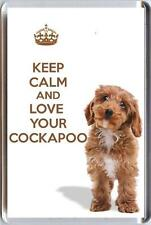 KEEP CALM and LOVE YOUR COCKAPOO Brown Cockapoo puppy dog image Fridge Magnet