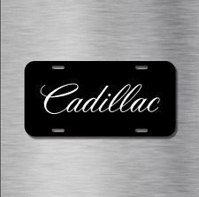 Cadillac Vehicle License Plate Front Auto Tag CTS ESCALADE XTS SRX NEW Black