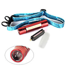 RED Mini 2 in1 LED  Flashlight 3 Modes Headlamp Q5+6*LED 18650 Head Light Torch