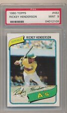 RICKEY HENDERSON 1980 TOPPS #482 RC ROOKIE CARD OAKLAND ATHLETICS PSA 9 MINT