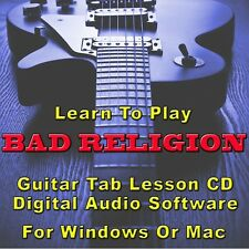 BAD RELIGION Guitar Tab Lesson CD Software - 178 Songs