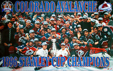 Colorado Avalanche 1996 STANLEY CUP CHAMPIONS On-Ice Celebration Vintage POSTER