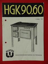 Bedienungsanleitung Gas Kohleherd GLUTOS HGK 90.60 DDR von 1965 ( 9074