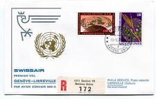 FFC 1971 Swissair First Flight Convair 990 A Geneve Libreville Gabun REGISTERED