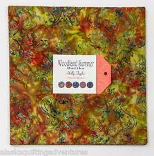 "Moda FABRIC Layer Cake ~ WOODLAND SUMMER BATIKS ~ Holly Taylor 42 - 10"" squares"